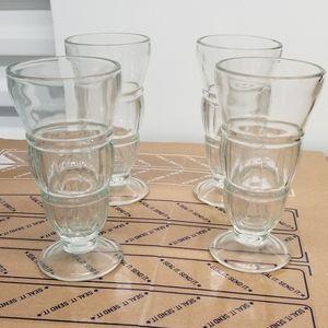 "Ice-Cream Fountain Glasses-8"" height"